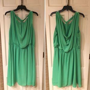 Gibson & Latimer 💚 Lime Green T- Back Dress XL